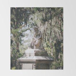 Bonaventure Cemetery - Statue of Eliza Wilhelmina Theus III Throw Blanket