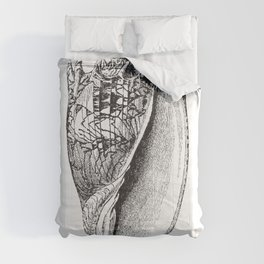 Seashell | Sea Shell | Conch Shell | Black and White | Comforters