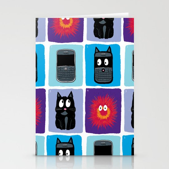 Don't Let Your BlackBerry Turn into Exploding Cats.  Stationery Cards
