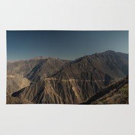 Panorama of Colca Canyon, Peru Rug