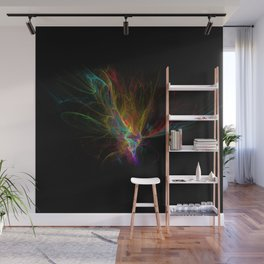 Fractal on black Wall Mural