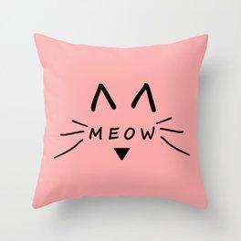 Meow Throw Pillow