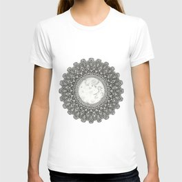 Black and White Moon Mandala T-shirt