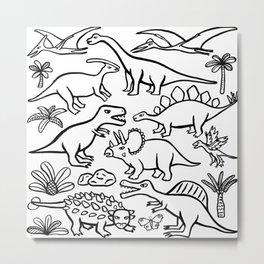 Dinosaur friends Metal Print
