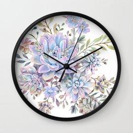 succulent watercolor 7 Wall Clock