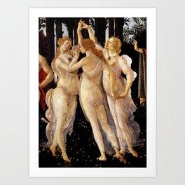 "Sandro Botticelli ""Primavera"" The Three Graces Art Print"