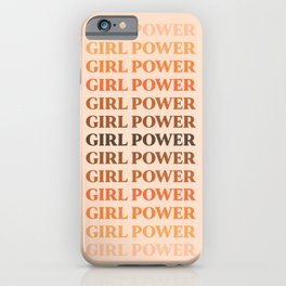 Girl Power // in Earthy Shades iPhone Case