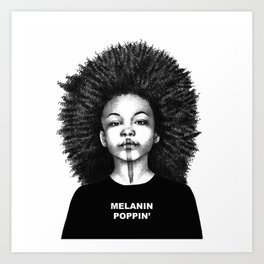 Melanin Poppin Art Print