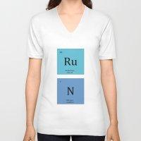 run V-neck T-shirts featuring Run by MeMRB
