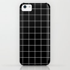 Black White Grid Slim Case iPhone 5c