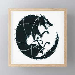 Fenrir Framed Mini Art Print