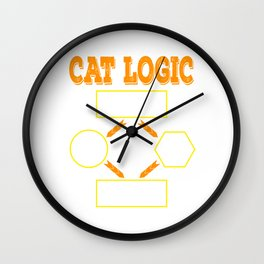 Having difficulty in deciding when it comes to cats? That's Cat Logic! Grab this awesome tee now! Wall Clock