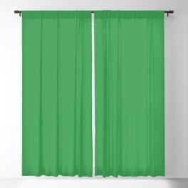 Solid Fresh Clover Green Color Blackout Curtain