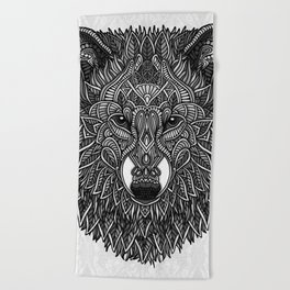 Gray Wolf Beach Towel