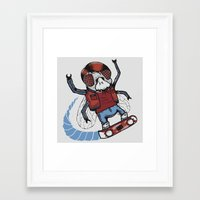 marty mcfly Framed Art Prints featuring Marty McFLY by Timo Ambo