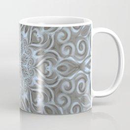 Light Blue Center Swirl Mandala Coffee Mug