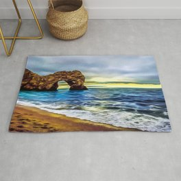 Durdle Door (Painting)  Rug