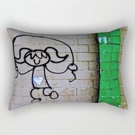 Jump Rope Street Art Rectangular Pillow