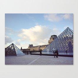 Louvre In Autumn Canvas Print