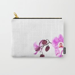 pink orchid flower watercolor painting Carry-All Pouch