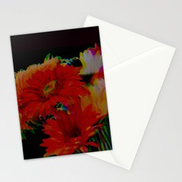 Infrared Gerbera Daisies with Blur Stationery Cards