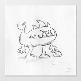 Fish Monster Canvas Print