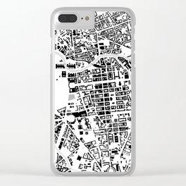 Berlin buildings map Clear iPhone Case