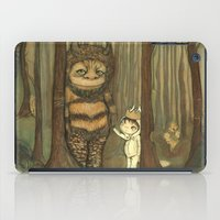 wild things iPad Cases featuring Wild Things  by thepoppytree