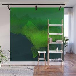 brush stroke aquamarine Wall Mural