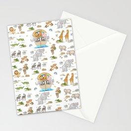 Noahs Ark Animals Stationery Cards