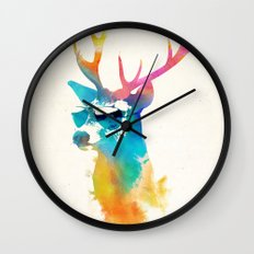 Sunny Stag Wall Clock