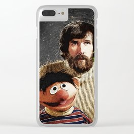Jim Henson Together With Ernie And Kermit The Frog Clear iPhone Case