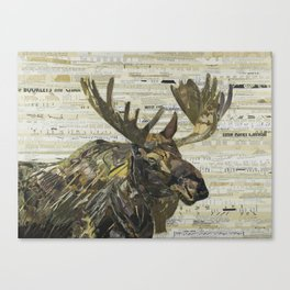 Eastern Moose Collage by C.E White Canvas Print