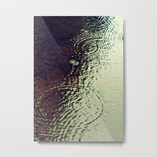 The Skin Of The Water Metal Print