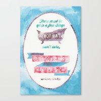 sylvia plath Canvas Prints featuring A HOT BATH//SYLVIA PLATH QUOTE by Connie Cann