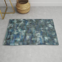Abstract blue bluring pattern Rug