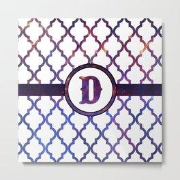 Galaxy Monogram: Letter D Metal Print