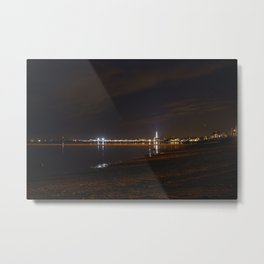Province town at night Metal Print