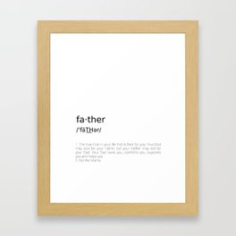 Father #minimalism Framed Art Print