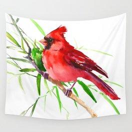 Cardinal Bird Wall Tapestry