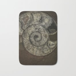 Grey ammonite Bath Mat