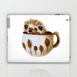 Hedgehog in a Cup Painted with Coffee Laptop & iPad Skin