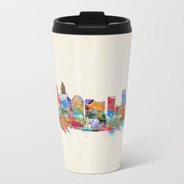 Charlotte North Carolina skyline Metal Travel Mug