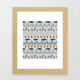 animal parade Framed Art Print