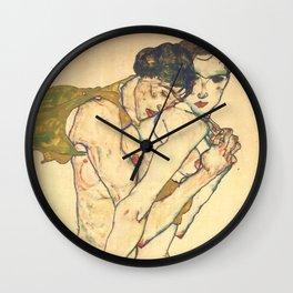 "Egon Schiele ""Friendship"" Wall Clock"