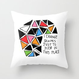 Colored Shapes Throw Pillow