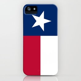 State flag of Texas, banner version iPhone Case