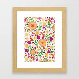 Fruits and vegetables pattern (19) Framed Art Print