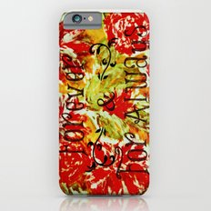 FOREVER & FOR ALWAYS - Beautiful Vintage Acrylic Floral Painting Romantic Love Typography Art Slim Case iPhone 6s