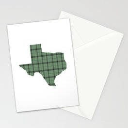 Texas State Shape: Green Stationery Cards